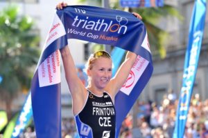 La ceca Vendula Frintova è la regina della Huelva ITU Triathlon World Cup 2017 (Foto ©Triathlon.org)
