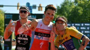 I top 3 men dell'Ironman 70.3 World Championship 2017: Ben Kanute (2°), Javier Gomez (1°) e Tim Don (3°) - (Foto ©Donald Miralle)