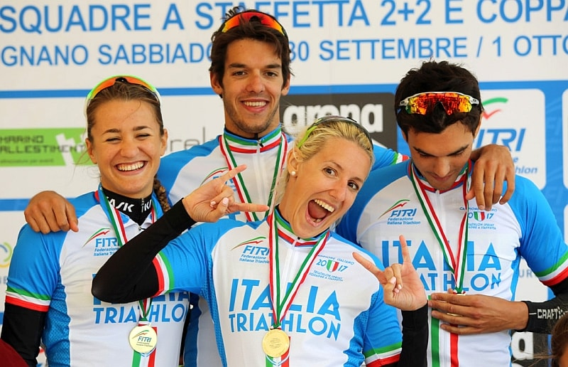 A Lignano, il 1° ottobre 2017, Il 707team si laurea Campione d'Italia di Triathlon a Staffetta 2+2