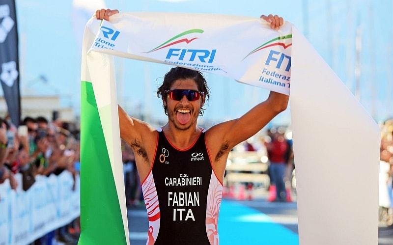 Alessandro Fabian trionfa sabato 7 ottobre 2017 nel triathlon olimpico di Lerici valido per il Tricolore Elite (Foto: ©Marco Bardella)