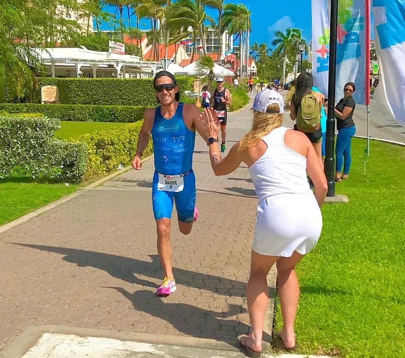 L'azzurro Davide Giardini impegnato nella 21K finale del Challenge Aruba 2017