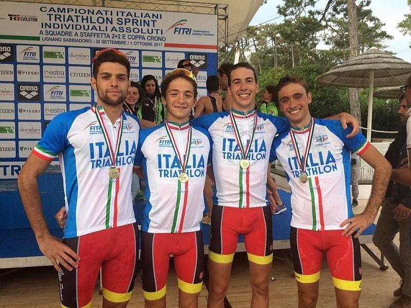 I 4 moschettieri del CUS Parma campione della Coppa Crono 2017: Emanuele Grenti, Matteo Morelli, Nicola Scarica e Federico Pezzani (Foto: Barbara Cologni/FCZ.it)