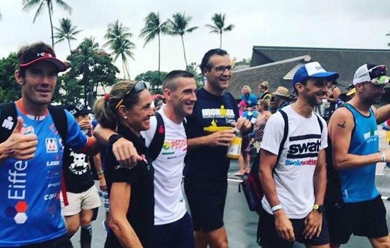 Parta delle Nazioni Ironman Hawaii 2017: Laura Pederzoli, Massimo Giacopuzzi, Franco Prezzi e Alessandro Tomaiuolo