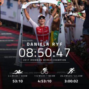 Daniela Ryf vince l'Ironman World Championship per la terza volta consecutiva (Foto ©IRONMANtri)