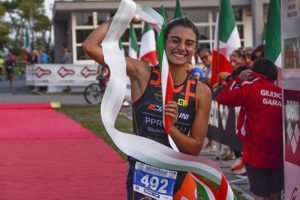 Carlotta Missaglia (PPR Team) si aggiudica il titolo tricolore 2017 categoria Junior il 22 settembre a Caorle (Foto ©F.I.Tri)