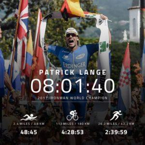 Il tedesco Patrick Lange è il nuovo re di Kona: chiude la sua gara in 8:01:40, stabilendo il nuovo record (Foto ©IRONMANtri)