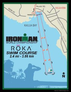 Il percorso della frazione di nuoto dell'Ironman World Championship 2017, Kona-Hawaii