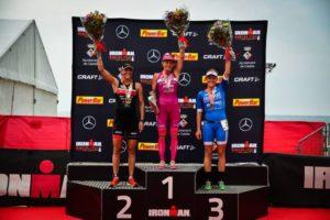 Le top 3 dell'Ironman Barcelona 2017: Lisa Huetthaler (AUT), Yvonne Van Vlerken, (NED) e Daniela Sämmler (GER) - Foto ©Ironman Barcelona Facebook