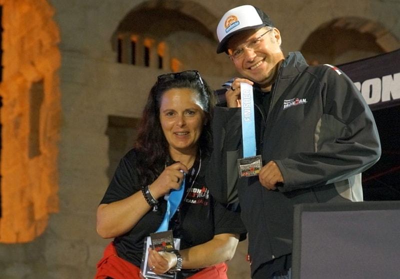 Robertina e Igor, gli organizzatori dell'Ironman 70.3 Pula
