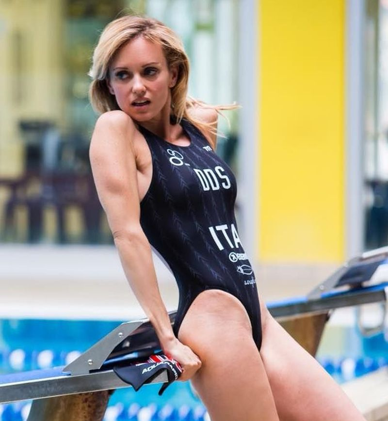 Justine Mattera al Gala del Triathlon 2018