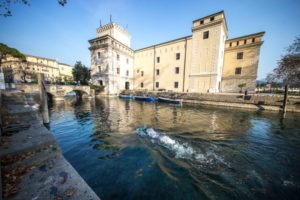 Il 1° Garmin WE TRI partirà venerdì 1 giugno 2018 a Riva del Garda (TN) con WE SWIM la giornata dedicata al nuoto: il percorso di 1.9 km dovrà essere ripetuto una volta per la mezza distanza e due volte per la distanza completa (3.8 km)