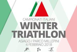 Domenica 4 febbraio 2018 si disputeranno, ad Asiago (VI), i Campionati Italiani di winter triathlon