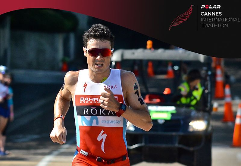 Javier Gomez al via del Cannes International Triathlon 2018