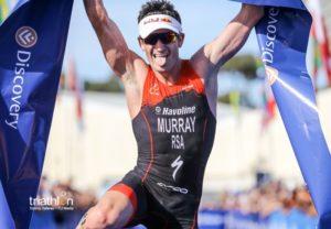 E' stato ancora l'atleta di casa Richard Murray a dominare l'ITU Triathlon World Cup 2018, a Cape Town (Foto ©ITU Media / Tommy Zaferes)