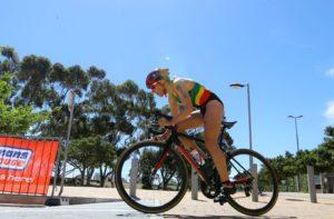 Tra le protagoniste dell'ITU Triathlon World Cup, a Cape Town, domenica 11 febbraio 2018, c'è stata anche la portoghese Vanessa Fernandes (Foto ©ITU Media / Tommy Zaferes)