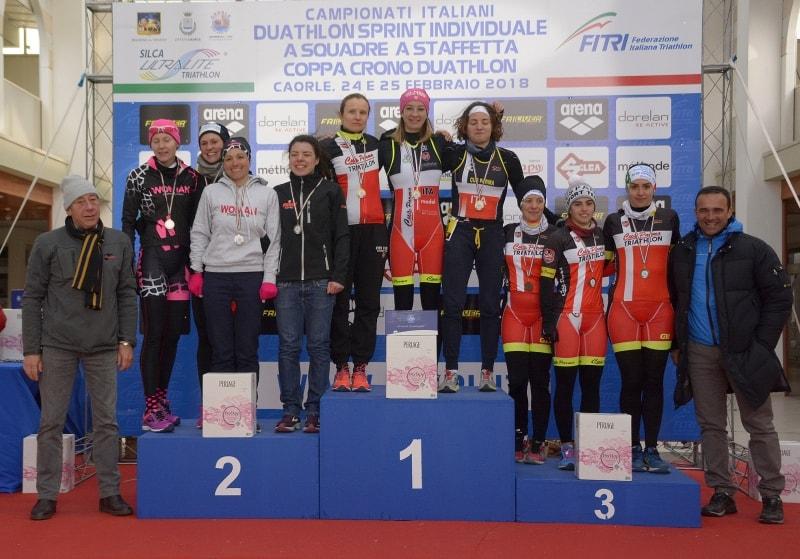 Il CUS Parma vince la Coppa Crono Duathlon femminile a Caorle (Foto: Massimiliano Pizzolato)