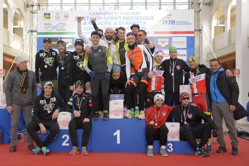 Freezone con Huber Rossi, Luca Bonazzi e Massimiliano Marini è il team più veloce nella Coppa Crono Duathlon di Caorle (Foto: Massimiliano Pizzolato)