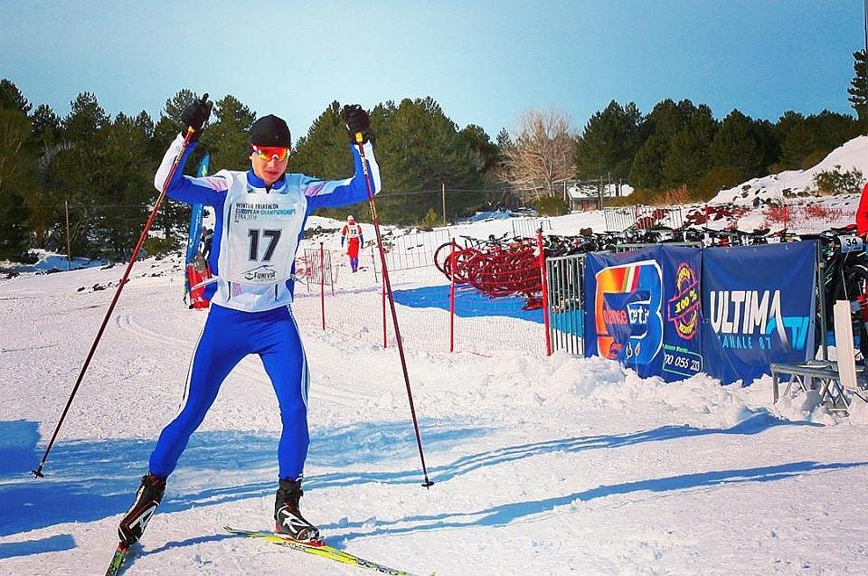 Alessandro Saravalle è oro Under 23 agli Europei di winter triathlon 2018