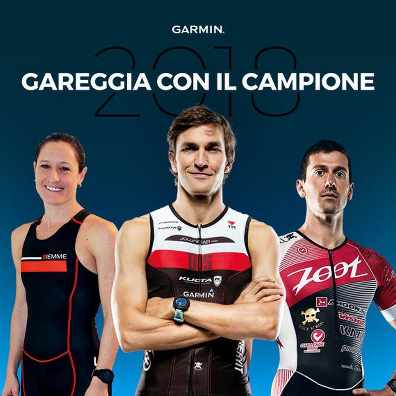 """Partecipa al concorso e… """"Gareggia con il Campione"""" al Garmin WE TRI"""