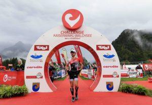 Al Challenge Kaiserwinkl-Walchsee 2017 Giulio Molinari, dopo aver condotto la gara fino a metà della mezza maratona, è costretto a lasciare il primo posto a Thomas Steger