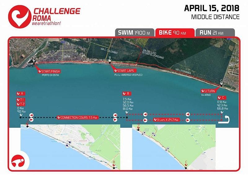 Challenge Roma, nuovo percorso Bike tra vista mare e riserva naturale