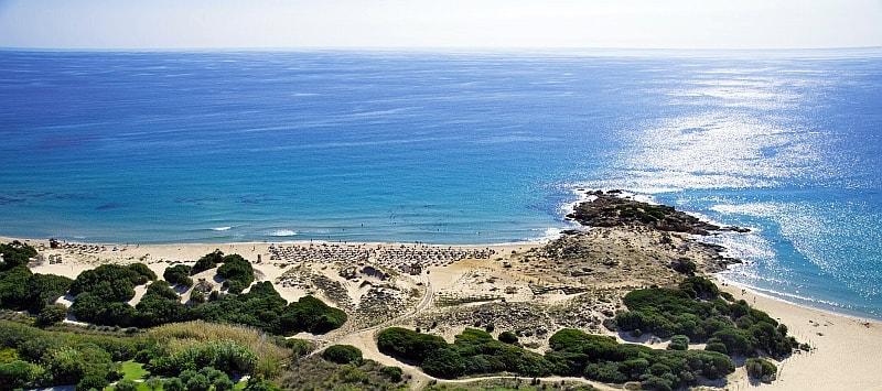 La spiaggia Dune di Campana, si nuota into the blueal Chia Triathlon