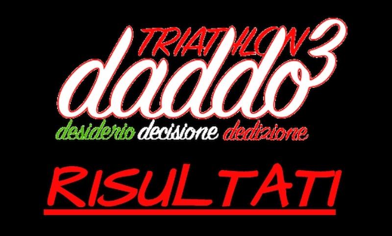 DADDO3 risultati triathlon del 28 e 29 aprile e 1 maggio 2018