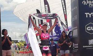 La céca Radka Vodickova Kahlefeldt, per cui il triathlon è... casa (ha sposato il triatleta australiano Brad, che da poco ha annunciato il ritiro) ha vinto l'Ironman 70.3 Davao Philippines 2018 (Foto ©AsiaTRI.com)
