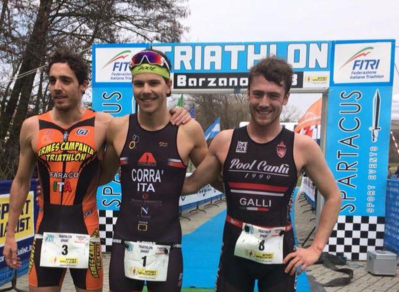 Luisa Iogna Prat e Marco Corrà vincono il Triathlon Sprint di Barzanò