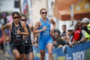 L'italiana Alice Betto centra il sesto posto nell'ITU World Triathlon Bermuda, corso sabato 28 aprile 2018 (Foto ©ITU Media / Wagner Araujo)