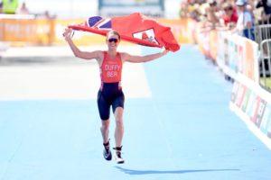 Flora Duffy, campionessa del mondo ITU e XTERRA in carica, è oro ai Commonwealth Games, disputati giovedì 5 aprile 2018 nella Gold Coast, in Australia (Foto ©ITU Media / Delly Carr)