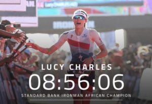 La francese Lucy Charles si è aggiudicata l'Ironman South Africa corso domenica 15 aprile 2018