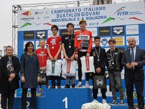 I migliori 3 Ragazzi ai Campionati Italiani di duathlon 2018 (Foto ©FiTri)