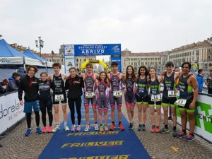 Nella staffetta 2+2 cat. Youth dei Campionati Italiani di duathlon 2018 ha vinto la Minerva Roma davanti a Tri RN Marostica e Green Hill (Foto ©FiTri)