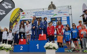 Il TD Rimini si è aggiudicato il Campionato Italiano di duathlon 2018 a staffetta 2+2 nella categoria Ragazzi, davanti a Cuneo 1198 e Almosthere ASD (Foto ©FiTri)