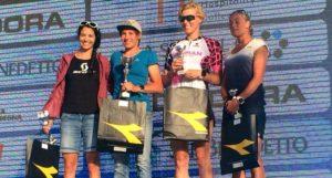La tedesca Jenny Schulz vince il Chia Sardinia Triathlon Half davanti alle italiane Elisabetta Curridori e Michela Santini (Foto ©Giancarlo Colombo)