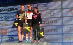 Beatrice Taverna (DDS) è stata la più veloce nel Chia Sardinia Triathlon Sprint. Ha preceduto al traguardo Beatrice Crespan (Triathlon Lignano) e Alice Capone (Raschiani Triathlon Pavese) - Foto ©Giancarlo Colombo
