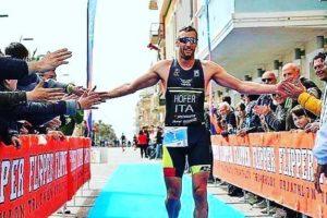 Daniel Hofer (Venus Triathlon) ha dominato il 2° Triathlon Sprint Città di Recanati, corso il 15 aprile 2018