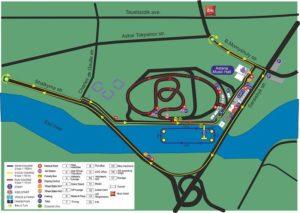 Il percorso della 5^ tappa dell'ITU Triathlon World Cup 2018, che si disputerà ad Astana (Kazakistan) sabato 19 maggio