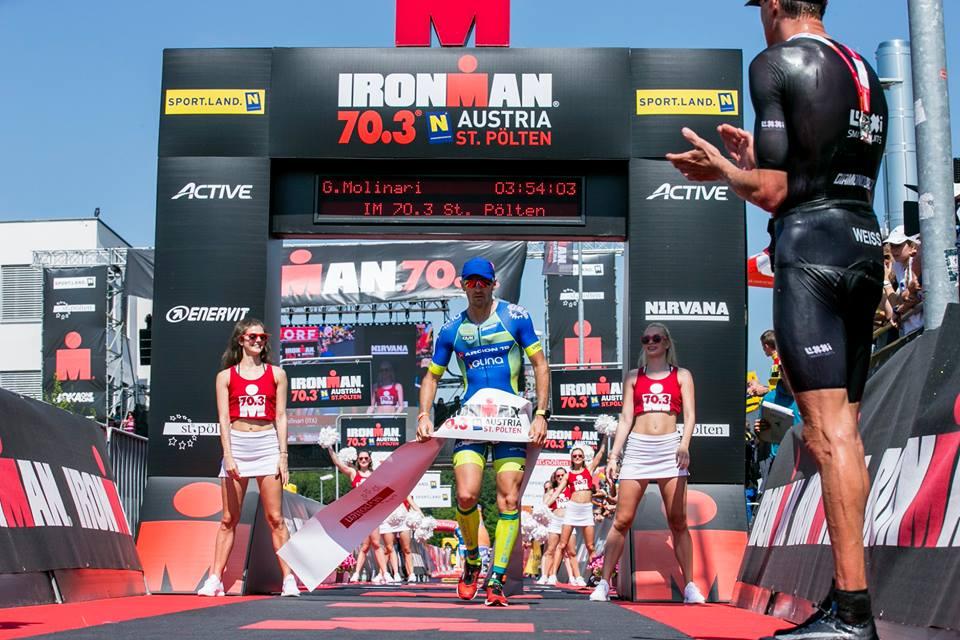 Conclude in terza piazza l'azzurro Giulio Molinari nell'Ironman 70.3 St. Polten, Austria