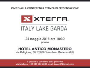 invito conferenza stampa XTERRA Italy Lake Garda