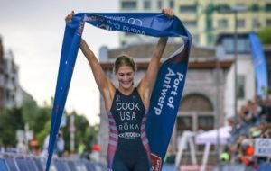 L'americana Summer Cook fa sua l'ITU Triathlon World Cup di Anversa, corsa domenica 17 giugno 2018 (Foto ©ITU Media / Tommy Zaferes)