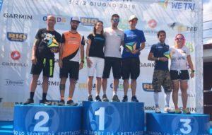 Le premiazioni della gara Relay Half Distance del 1° Garmin WE TRI