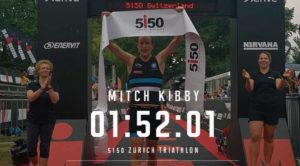 L'australiano Mitch Kibby è il più veloce nel 5i50 Zurich Triathlon 2018