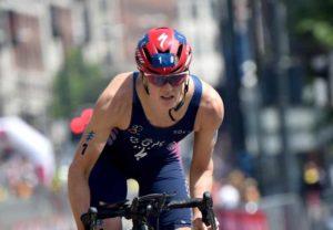 La statunitense Katie Zaferes, prima nel ranking mondiale e al via della WTS Edmonton 2018 (Foto ©ITU Media / Janos Schmidt)
