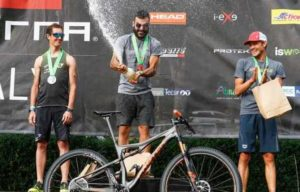 Il podio maschile dell'XTERRA Italy Lake Scanno 2018