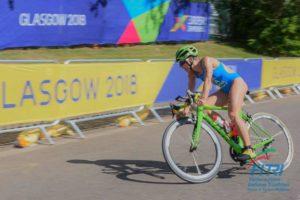 Giorgia Priarone, una delle tre azzurre in gara, si è classificata 25^ all'ETU Triathlon European Championships a Glasgow 2018 (Foto ©FiTri / Tiziano Ballabio)