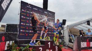All'Ironman Copenaghen 2018 il francese Cyril Viennot precede il danese Kristian Høgenhaug e l'italiano Giulio Molinari
