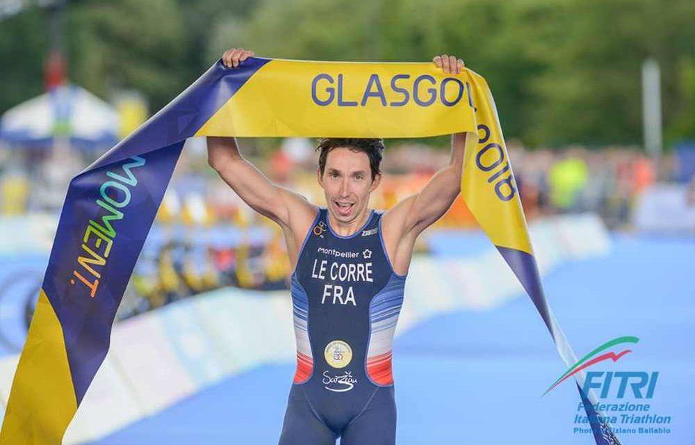 Pierre Le Corre vince gli Europei di triathlon a Glasgow 2018