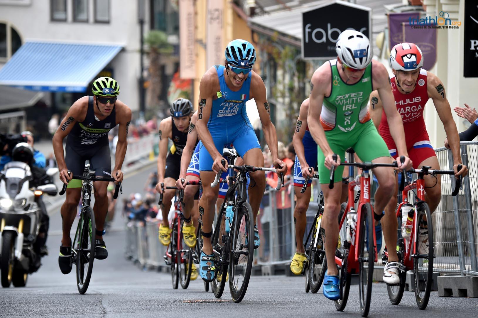 Che emozione rivedere l'azzurro Alessandro Fabian sul podio. E' successo a Karlovy Vary (Repubblica Ceca) nella tappa di ITU Triathlon World Cup domenica 2 settembre 2018 (Foto ©ITU Media / Janos Schmidt)